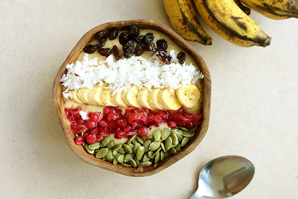 Banana Mango Smoothie Bowl