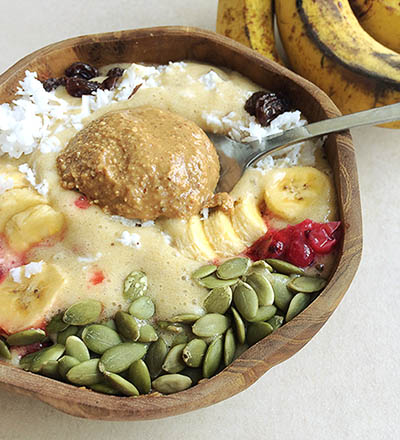 Banana Mango Smoothie Bowl For IBS